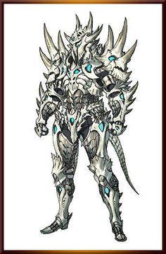 Probably too many spikes to be actually effective, but pretty rad armor ref anyways Fantasy Character Design, Character Concept, Character Art, Dragon Armor, Dragon Knight, Armor Concept, Concept Art, Monster Hunter Art, Arte Dc Comics