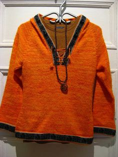 SALE Unique hippie sweater hoodie/ ethnic inuit / by EcoCentrik, $20.00
