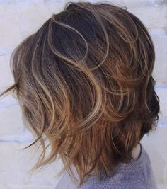 Delicately Layered Messy Brown Bob
