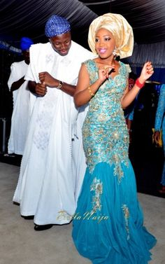 Tolu  Bode | Lagos Nigerian Yoruba Wedding | BellaNaija | Photonimi | 070 light blue and gold bride Follow @Chiefwedslolo for more blue Nigerian weddings!