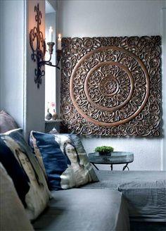 34 Inspirations of Lattice Wall Decor – Living Room Cozy Asian Home Decor, Diy Home Decor, Asian Wall Decor, Interior Design Inspiration, Home Decor Inspiration, Cozy Living Rooms, Living Room Decor, Carved Wood Wall Art, Wall Wood
