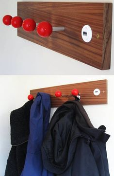 omg old arcade joy sticks as coat hangers