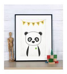 Poster mit Panda // poster with panda bear by Emugallery via DaWanda.com