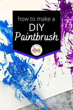 Learn how to make your own paint brush for kid's art. Find endless ways to make DIY paintbrushes for preschool art at home or in school. Homemade paintbrushes are great for winter, spring, summer and fall open-ended and process art activities. These projects are an easy way to experiment with art supplies and are a fun way to work on STEAM or STEM activities. Perfect for preschool, pre-k, and kindergarten art activities. From feathers to string to clothespins ..... so many different ideas. Kindergarten Art Activities, Creative Activities, Stem Activities, Preschool Crafts, Bug Crafts, Foam Crafts, All About Me Crafts, Make Your Own, Make It Yourself