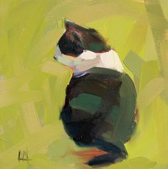 Hemingway Cat original oil painting by Angela by prattcreekart