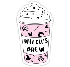 """Witch's Brew Coffee ♥ Trendy/Hipster/Tumblr Meme"" Stickers by Bratsy ♥ 
