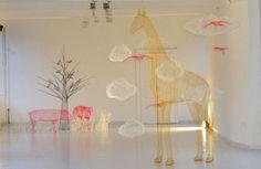 Magical Scenes Sculpted with Chicken Wire by Benedetta Ubaldini