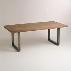 One of my favorite discoveries at WorldMarket.com: Wood and Metal Edgar Dining Table
