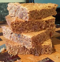 Almond Butter Blondies - Life DIY With AK