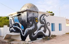 150 Street Artists Decorate Old Tunisian Village with Spectacular Murals - My Modern Met