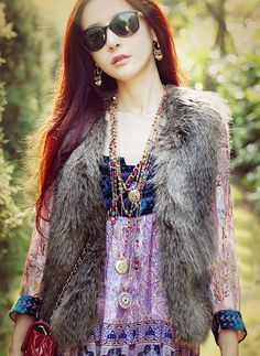 Women Faux Fur Vest Sleeveless Coat Outerwear Long Hair Jacket Waistcoat - Women's Clothing - Clothing,Shoes & Jewelry -Free Shipping for all to over 200 countries on Malloom.com