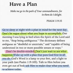 Have a PLAN !