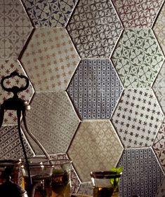 Marrakech Hexagon White Plain 15 x 15 cm Wall Patterns, Textures Patterns, Marrakech, Hall Tiles, Kitchen Mosaic, Topps Tiles, Moroccan Art, Unique Tile, Hexagon Tiles