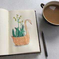 My favourite time of the day to sketch is first thing in the morning. It's nice to just draw something for fun before starting any serious work. I drew this funny little swan this morning. Draw Something, Cool Drawings, Swan, Sunglasses Case, Sketch, My Favorite Things, Nice, Funny, Instagram