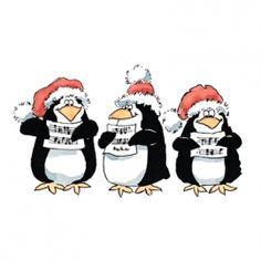 2528K PB Stempel Caroling Penguins | Kerst / Winter | Create4fun