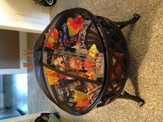 Silent auction basket ... Fire pit, roasting sticks and rests, pie irons, lighter, fire starters, flashlights, bug spray, s'mores and bud light lime-a-ritas