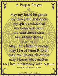 silverwitch-Pagan Prayer