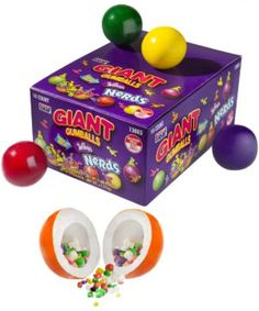 Giant Gumballs filled with Nerds