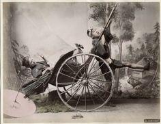 C 1880's Photo Japan Jinrikisha Girl Taking A Tumble | eBay