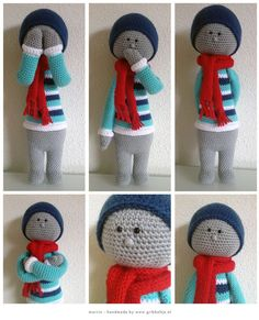 Marvin - crochet doll