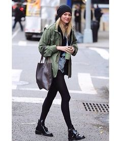 candice swanepoel in new york // i'm meeting her tomorrow!!!