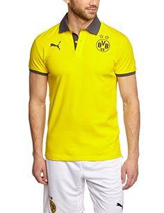 7f43eab8fb2a66 PUMA Herren Polo Shirt BVB T7, Cyber Yellow-Black-Ebony, XL, 746403 01  günstig online bei StyleBee kaufen und bis zu 85% beim Preisvergleich  sparen!