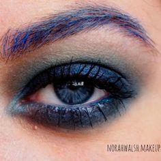 Sea blue  #makeup #ilovemakeup #mua #artisticmakeup #blue #brows #lashes #blendthatshit #dressyourface #wakeupandmakeup #eotd #motd #beauty #eyeshadow #instaglam #instamakeup #instabeauty #maquillaje #azul #ojo #undiscovered _muas #fiercesociety #bluebrows