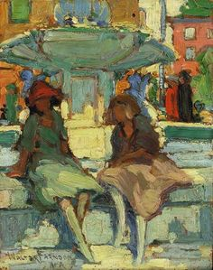 At the Fountain, two works, Walter Farndon. (1876 - 1964)