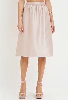 Contemporary Sheeny A-Line Skirt | Forever 21 - 2000180779