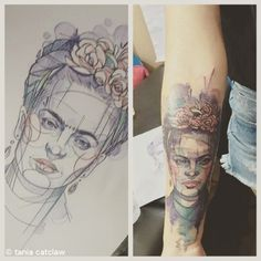 Tania Catclaw | Lisbon PortugalFrida for Ana,2nd prize winner at #inkvibrations2015