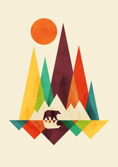 Bear In Whimsical Wild Art Print                                                                                                                                                                                 More