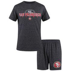 094e05ad1b9 Men's San Francisco 49ers Concepts Sport Charcoal Marled T-Shirt & Boxer  Sleep Set