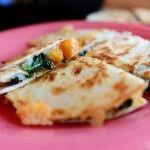 Kale, butternut squash quesadillas