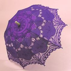 a Purple Umbrella Parasol! Purple Rain, Deep Purple, Purple Umbrella, Under My Umbrella, Purple Love, All Things Purple, Purple Lilac, Shades Of Purple, Periwinkle