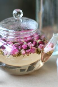 Must Serve Rose tea (tisane) at a Garden Party:)