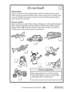 worksheets vibrations and sound first grade - Google Search ...