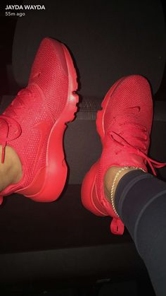 nike X all red Cute Sneakers, Cute Shoes, Me Too Shoes, Shoes Sneakers, Red Shoes, Sock Shoes, Shoe Boots, Shoes Sandals, Sneakers Fashion