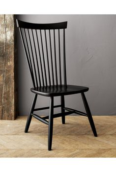 marlow ii black wood dining chair crate and barrel