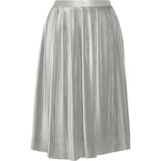 Adam Lippes Plissé silk-blend lamé skirt (471.935 HUF) ❤ liked on Polyvore featuring skirts, silver, pleated skirt, lame skirt, accordion pleated skirt, accordion skirt and adam