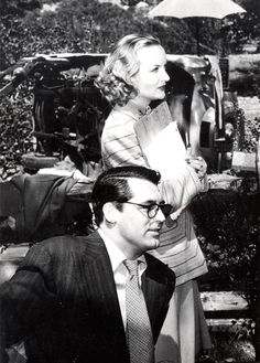 Carole Lombard and Cary Grant, on set of In Name Only