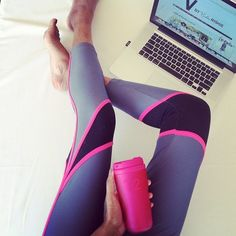 running leggings - love the pinkness