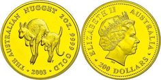 Australia - 200 dollars, Gold, 2003, kangaroo, 2 Ounce Gold, issue according to nice only max. 200 piece! Nice 773, KM 905, in capsule, PP.