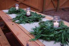 Christmas Home Tour: Tour A Beautiful Folk Victorian (gotta get some HUGE mason jars for outside)