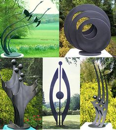 contemporary garden sculpture, modern art for gardens