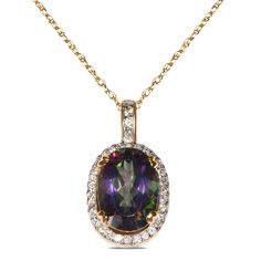 1/3cttw with Mystic Topaz Pendant in 10k Yellow Gold with Complimentary 18' Chain - Jewelry Deals 80% OFF + $25 OFF extra discount on purchases $500 & UP ! Enter PINPROMOT coupon at CHECKOUT to get $25 OFF when you place your order @ NissoniJwelry.com