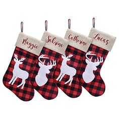 Personalized Christmas Stockings - Let's Personalize That Christmas Stockings, Presents, Seasons, Holiday Decor, How To Make, Needlepoint Christmas Stockings, Gifts, Seasons Of The Year, Christmas Leggings