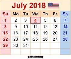 july 2018 printable calendar word
