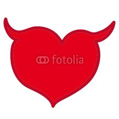Vettoriale: Red heart, Valentine's day