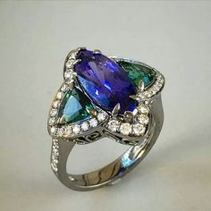 Tanzanite and Tourmaline