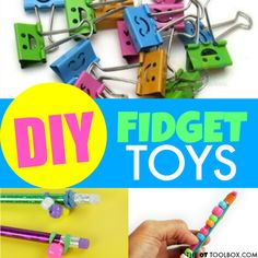 DIY fidget toys for kids. Help the children make their own fidget toys so they can focus during important tasks.